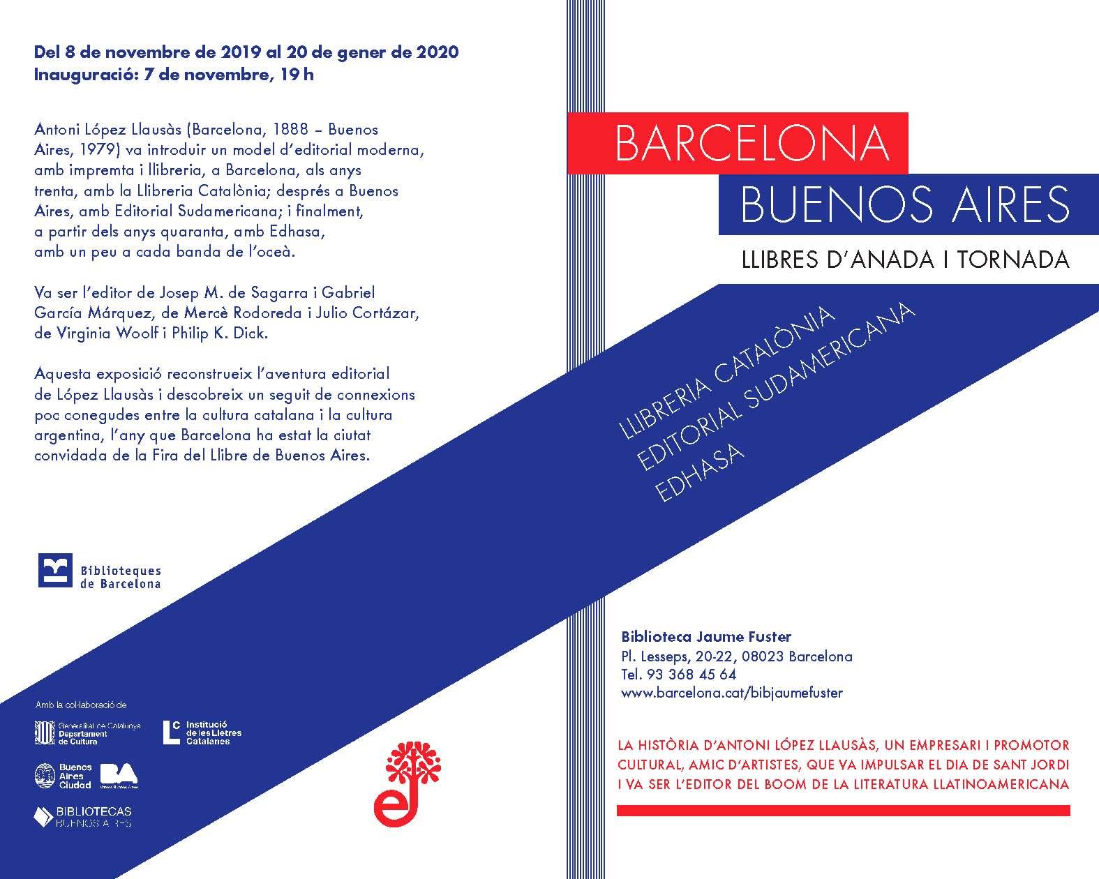 Barcelona - Buenos Aires y Antonio López Llausás, fundador de Edhasa