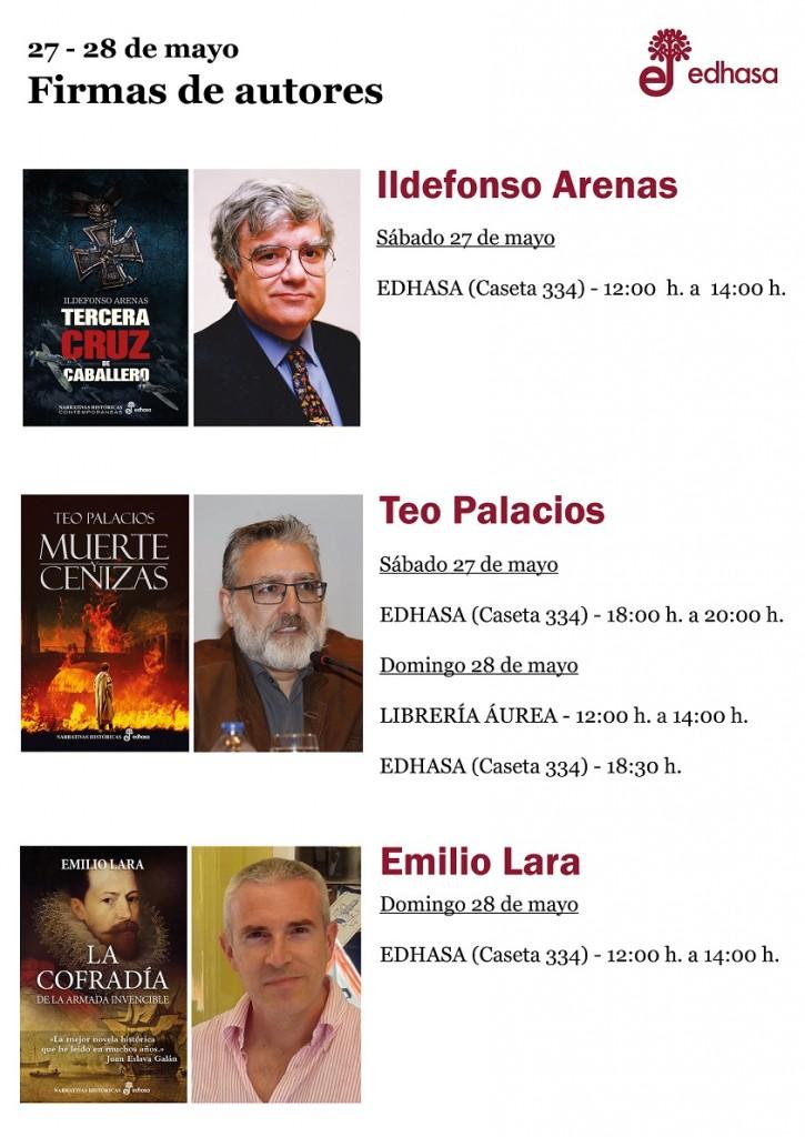 Firmas Caseta Edhasa - fin de semana 1 Feria Libro Madrid
