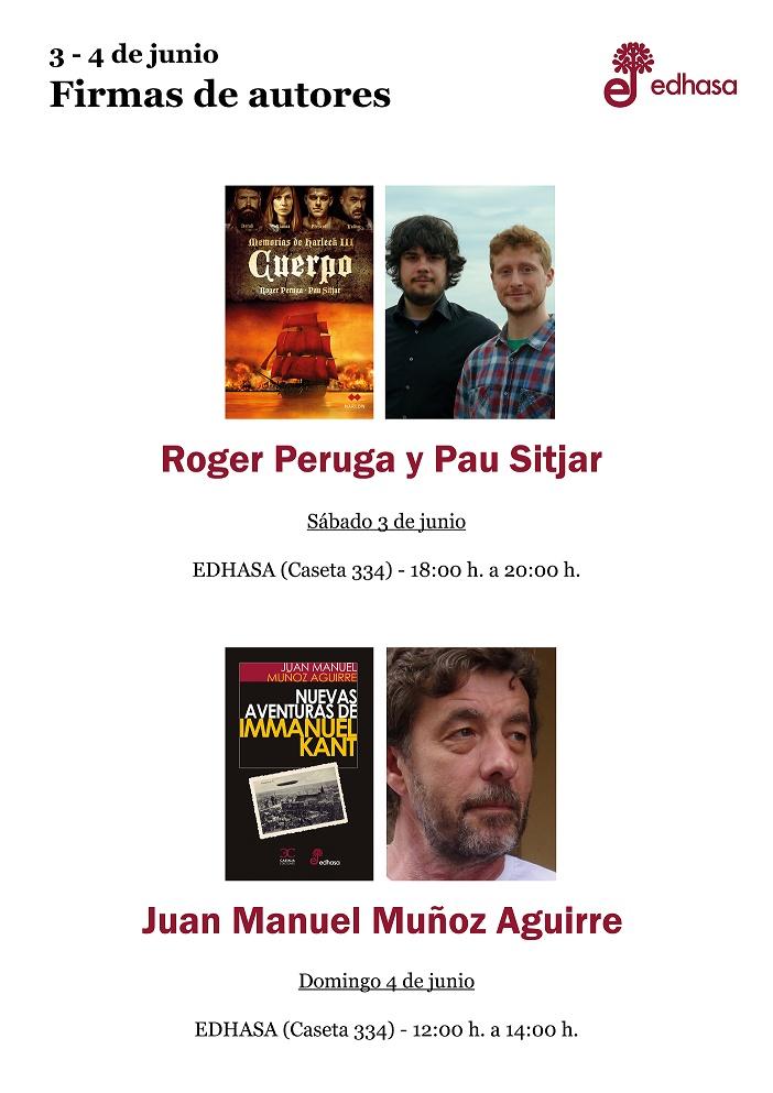 Peruga-Sitjar - Firmas caseta Edhasa 2 - Feria Libro Madrid