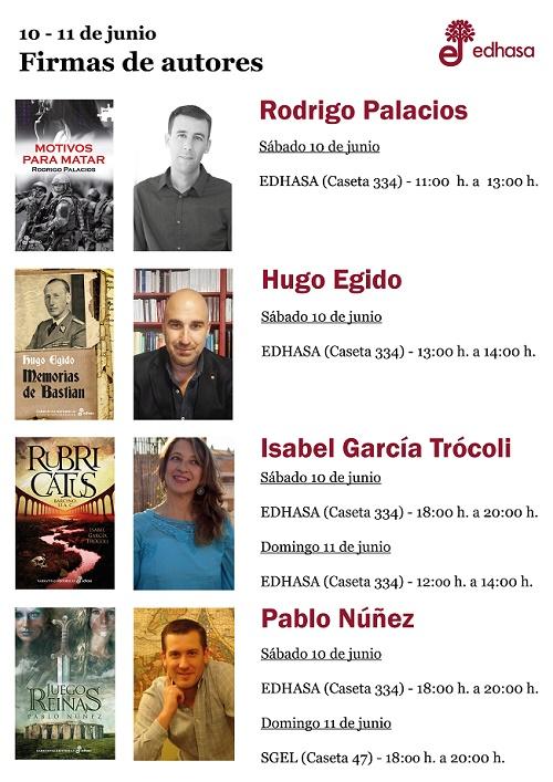 Firmas tercer fin de semana Feria del Libro de Madrid