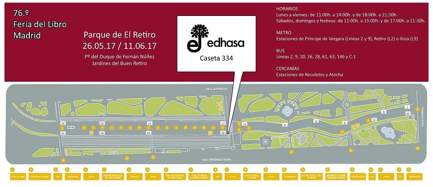 Plano de la Feria del Libro de Madrid